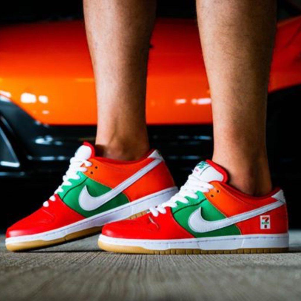 Nike SB Dunk 7-Eleven Yankeekicks On Foot