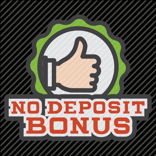Bonus, no, deposit, no deposit bonus, sign, casino icon