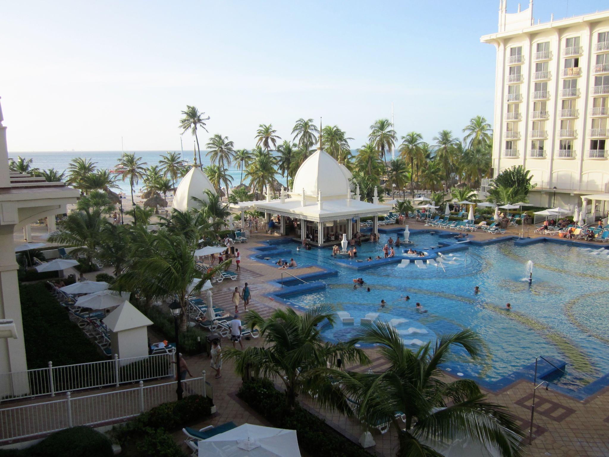 Upscale hotel pool